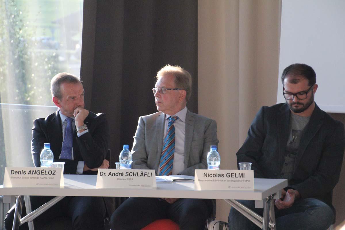 Denis Angéloz, Dr. André Schläfli et Nicolas Gelmi